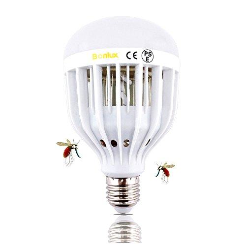 Bonlux LED Bug Zapper Light Bulb Medium Screw E26 Base 120V 10W Zap Wasp Bug Mosquito Zapper LED UV Lamp Flying Moths Killer for Porch Deck Patio Backyard Room Kitchen (Daylight)
