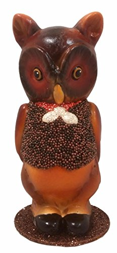 Pinnacle Peak Trading Company Ino Schaller Owl Wearing a Vest German Halloween Paper Mache Candy -