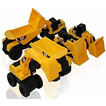 Toy State CAT Mini Machine Construction Toy Set (6-Items)