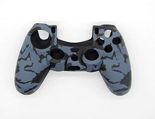 2PCs Type Special Design Army Soft Silicone Gel Skin Protective Rubber Cover Case PS4 Wireless Controller Grey uflage PS4 Controller Covers - Silicone Skin, Silicone Cover A815