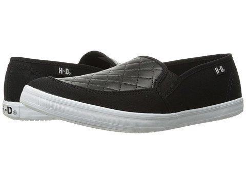 (ハーレーダビッドソン)Harley-Davidson レディースウォーキングシューズ?カジュアルスニーカー?靴 Glassell Black 10 27cm B - Medium [並行輸入品]