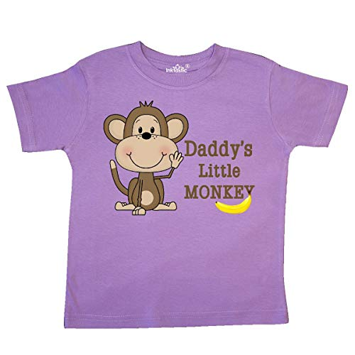(inktastic - Daddy's Little Monkey Toddler T-Shirt 3T Lavender 10e27)