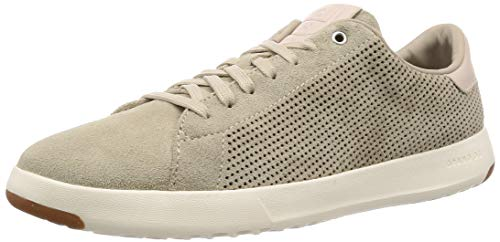 Hawthorn Leather - Cole Haan Men's Grandpro Tennis Sneaker, Hawthorn Suede Perforated/Pumice Stone, 10 M US
