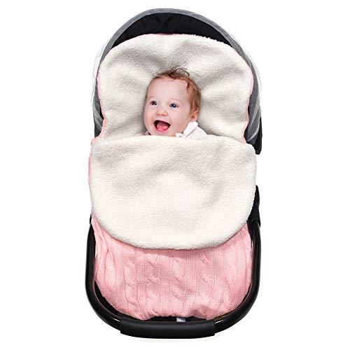 MHJY Newborn Baby Swaddle Blanket Wrap,Knit Warm Fleece Blanket Swaddle Sleeping Bag Sleep Sack Stroller Wrap for 0-12 Month Baby Boys Girls
