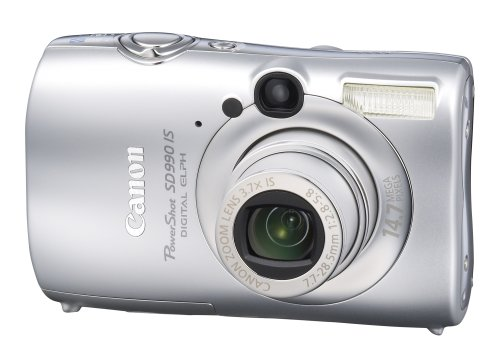 Canon Powershot SD990IS 14.7MP Digital Camera with 3.7x Optical Image Stabilized Zoom (Silver)