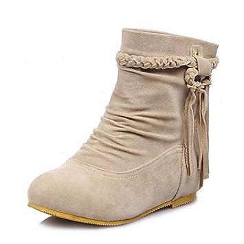 DESY Mujer-Tacón Plano-Confort-Botas-Vestido Informal-Semicuero- ,