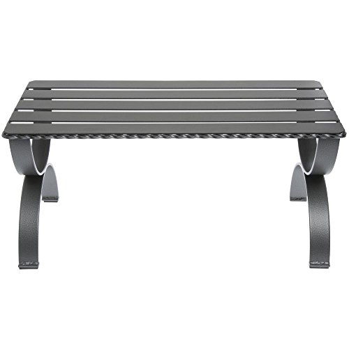 Display Riser Rectangular Silver-Grey Metal - 24''L x 12 1/4''W x 11''H by Hubert
