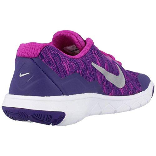 Nike Flex Experience 4 Print (Gs), Zapatillas de Running Para Niñas Azul (Azul (Hypr Vlt / Mtllc Slvr-Crt Prpl-W))