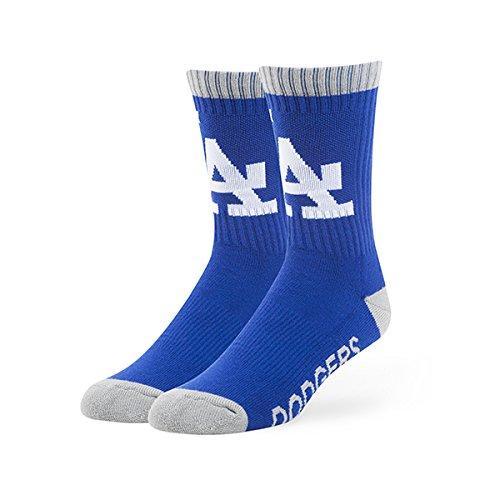 '47 MLB Los Angeles Dodgers Brand Bolt Team Color Crew Socks, Large (Men's 9-13/Women's 10-12), 1-Pack
