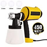 professional house painters Paint Sprayer Electric Sprayer HVLP Paint Guns for Home House, 3 Nozzle Sizes, Lightweight, Easy Spraying and Cleaning (US Stock)