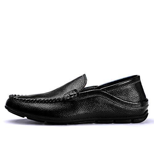 EU Xiaojuan da Nero pelle Uomo shoes Mocassini leggeri Scarpe nuovi morbidi Marrone barca in Dimensione uomo mocassini da casual 46 Pelle Color rqqRtw14