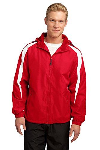 - Sport-Tek Men's Fleece Lined Colorblock Jacket XXL True Red/White