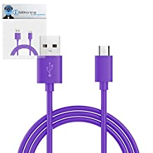 Purple THIN USB 2.0 Micro USB to USB 2.0 SYNC & CHARGE Charging Tangle Proof Cable (1 Meter) For KangerTech EvoD Mega Express Kit