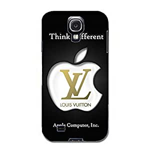 Apple Logo Phone Case Louis With Vuitton And Apple 3D Cover Case for Samsung Galaxy S4 I9500 Apple Series