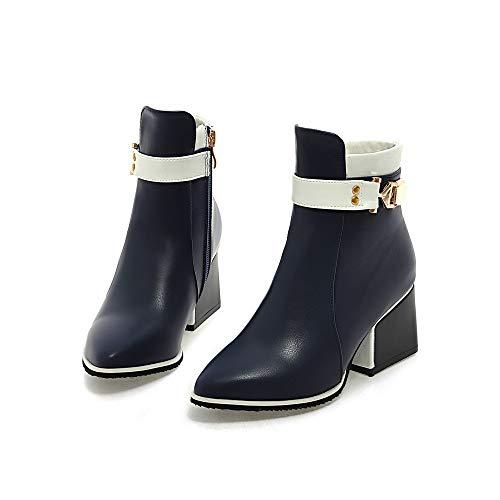 PU Heels High Heels Spitzen Mode Winter Stiefel warme Frauen und HCBYJ Herbst Reißverschluss Schneiden High Knöchel ZxzwO5yq6