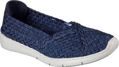 Skechers Women S Bobs Pureflex 2 Trade Up Woven Slip On Shoe