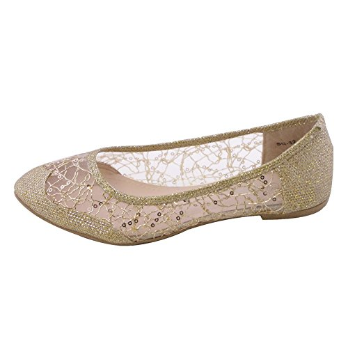 Toe Flats SQ 32 Womens Ballet Pointed SQ GOLD Womens WOMEN 32 Flats Ballet O8q8wvC