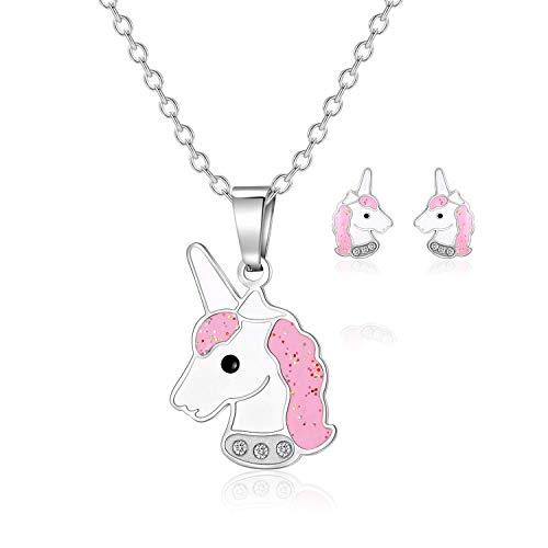 Grafix Unicorn Jewellery Design Set Girls Make Your Own Pearl Bead Necklace Kit