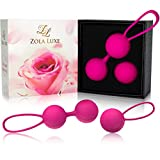 Kegel Excercise Weights 3 in 1 Set + TRAINING MANUAL Vaginal Tightening Balls for Beginners Bladder Control Incontinence Strengthen Pelvic Floor Pregnancy Postpartum Recovery - Ben Wa Balls for Women