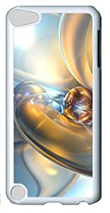 iPod Touch 5 Case and Cover -Abstract 3D Backgrounds PC case Cover for iPod Touch 5¨C White