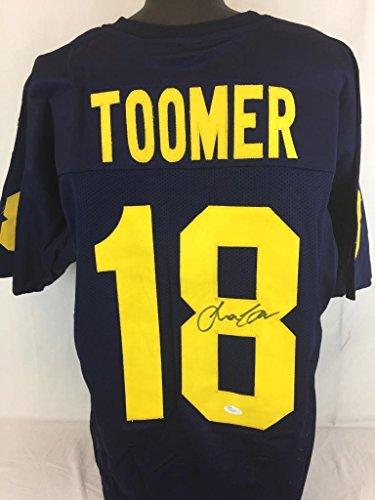 Amani-Toomer-Autographed-Jersey-Coa-Michigan-Wolverine-JSA-Certified-Autographed-NFL-Jerseys