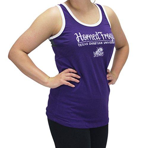 Royce Apparel Pressbox Women' s TCU Texas Christian University Horned Frogs Purple Tank Top Shirt