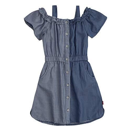 Levi's Girls' Little Shoulder Dress, Moonlight Blue, 4 (Size Blue Dress 4)