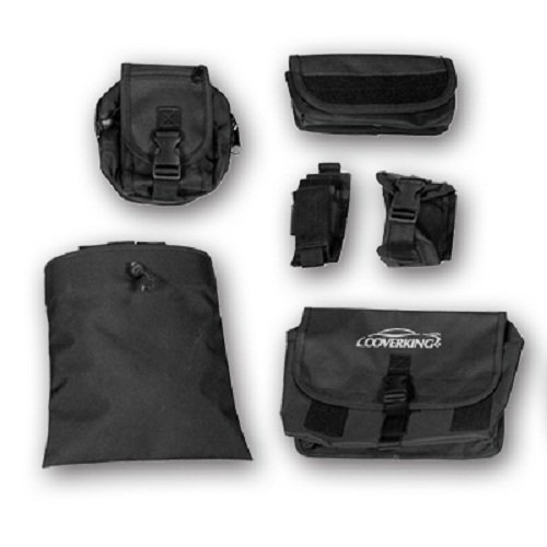 Black CSCT1NS7120 Coverking Custom Fit Tactical Seat Package for Select Nissan Frontier Models