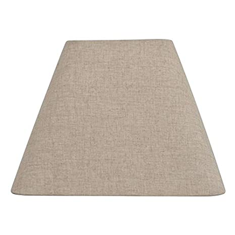 allen + roth 12-in x 15-in Tan Linen Fabric Square Lamp ...