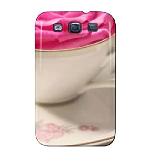Anti-drop Flower Cup Photography For Sumsang Galaxy S3 Flower Cup Gray TPU Protective Case