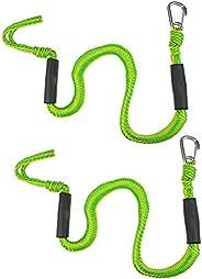 Yuwaakoo 2Pcs Bungee Dock Lines with Hook, 4 Feet Bungee Shock Cords Bungee Docking Rope Mooring Rope, Kayak R