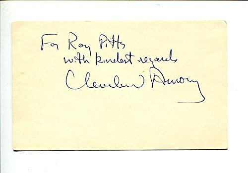 Cleveland Amory Famous Cat Author Animal Rights Legend Signed Autograph from Hollywood Memorabilia