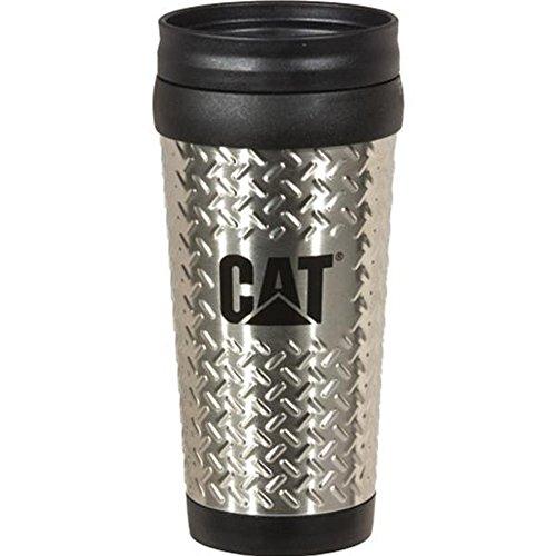 Caterpillar CAT Equipment Stainless Steel 14oz. Diamond Plated Travel - Mug Caterpillar