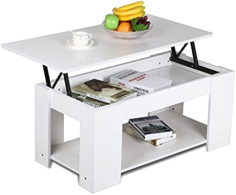 Swell Yaheetech Lift Up Top Coffee Table With Storage Undershelf Living Room Furniture White Andrewgaddart Wooden Chair Designs For Living Room Andrewgaddartcom