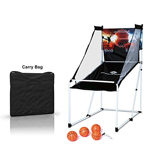 Sportcraft Junior Portable Foldable Basketball Arcade Game w/Carry Bag