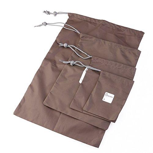 ULTNICE Stausack 4 Größen Universal dauerhaft im freien Reisen aus wasserdichtem Nylon Drawstring Lagerung Taschen Beutel Organisatoren