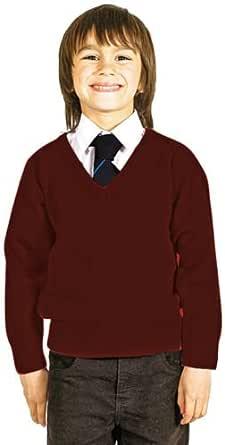 CKL Jersey de punto con cuello en V para niños