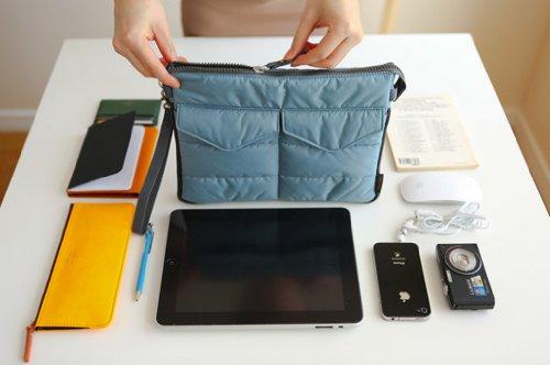 Brilliance Co Storage Bag Organizer Pouch Insert For Handbag, Tablet PC Bag - Peach Naranjo