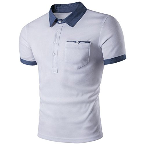 Ecurson New Hot Men's Slim Sports Casual Polo Shirt T-shirts Tee Tops (L, - The Over Oakley Tops