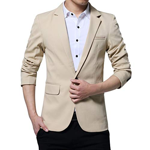 PromotionMen Casual Jacket, NEARTIME New Fashion Men's Autumn Corduroy Slim Coat Long Sleeve Blouse Suit Blazer Tops ()