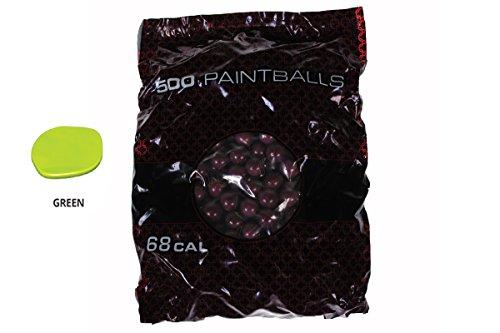 GI SPORTZ 1 STAR RECREATIONAL PAINTBALLS 500 Rounds Paint Balls (Green Fill) (500 Paintballs)
