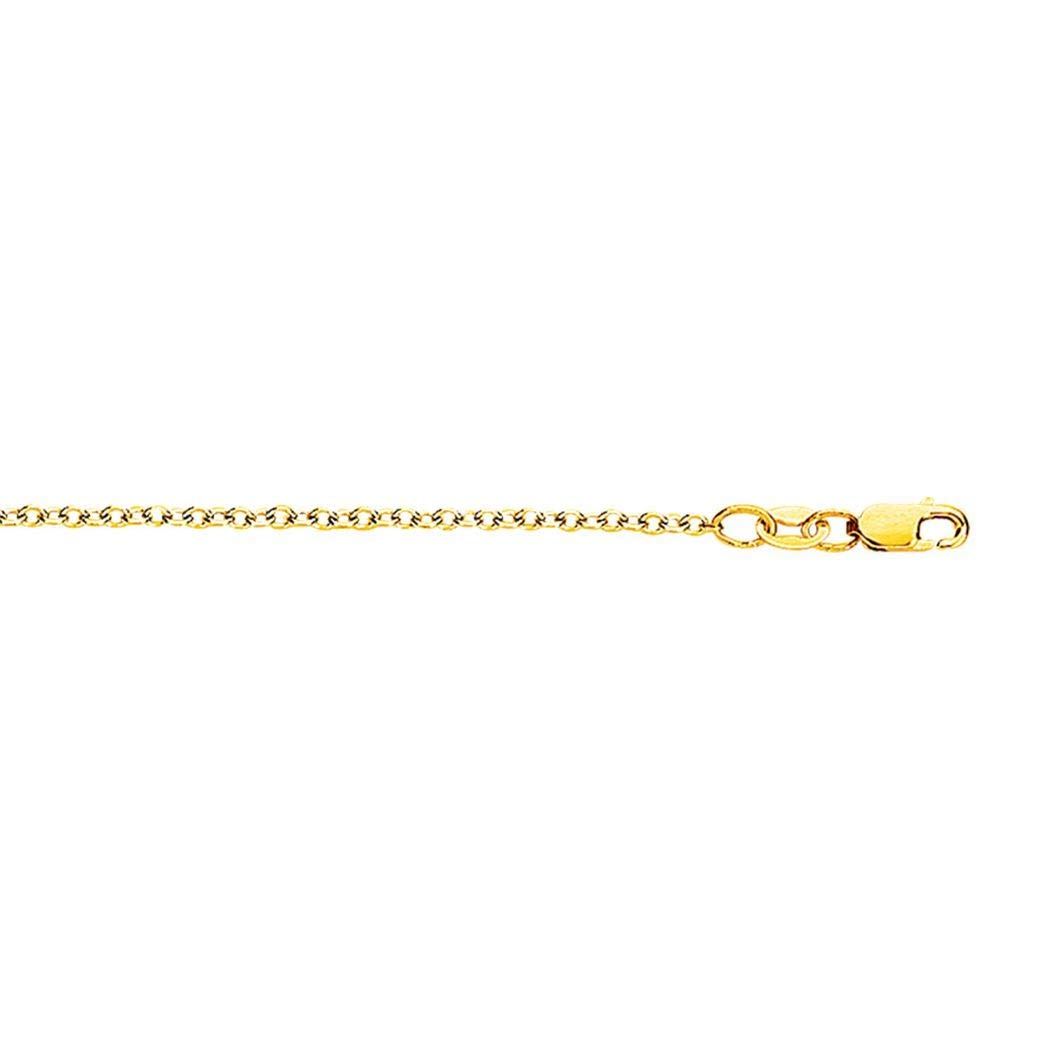 18k Gold Yellow Finish 1.5mm Shiny Forsantina Chain With Lobster Clasp Necklace 16 17 18 Length Options