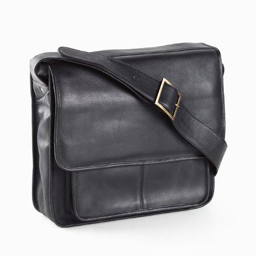 Vachetta Executive Laptop Sling Laptop Briefcase Color: Black