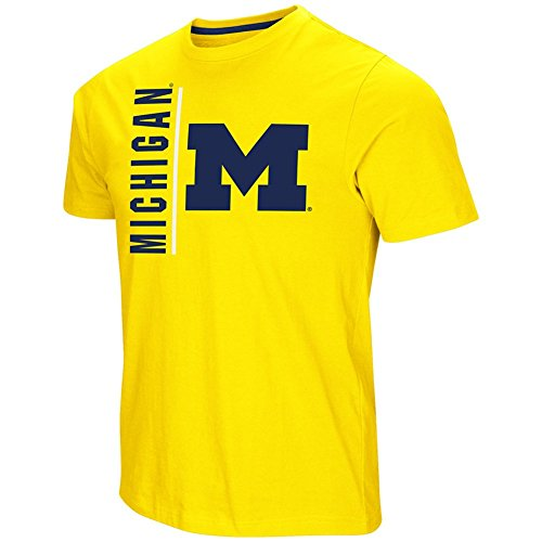 (Colosseum Michigan Wolverines Adult Tackle Shirt)
