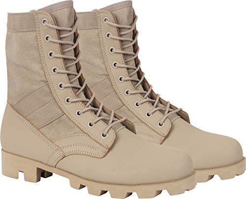 """AccessoriesClothing New Desert Tan Panama Sole Combat Boots Military 8"""" Tactical Jungle Boots"""