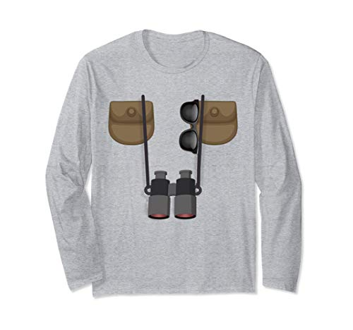 Birdwatcher Halloween Costume TShirt Funny DIY Ornithologist Long Sleeve T-Shirt -
