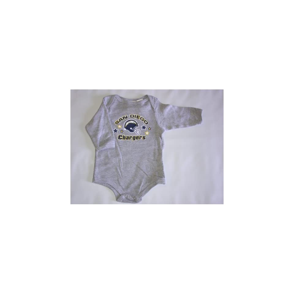 San Diego Chargers NFL Baby/Infant Grey Long Sleeve 6 9 months