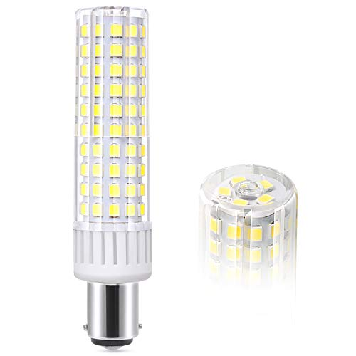 BA15D LED Bulbs 8.5W 1105LM,Double Contact Bayonet Base, 100W-120W Equivalent Halogen Bulbs, AC110V~265V Volts,Non-Dimmable (Daylight 6000K)