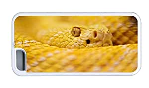 Hipster customize iPhone 5C cases albino rattlesnake TPU White for Apple iPhone 5C