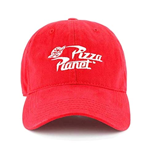 Disney Pixar Toy Story Pizza Planet Delivery Delivery Adjustable Baseball Snapback Cap Hat Red, Medium